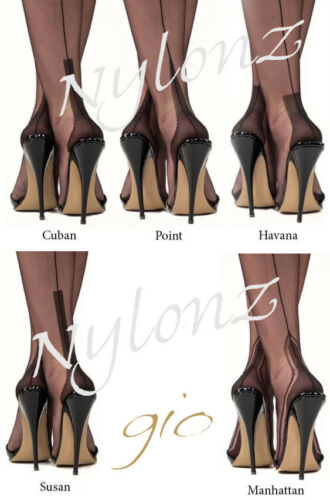 Gio Fully Fashioned Stockings Imperfects from NYLONZ NAVY
