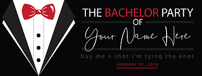 Bachelor Party Banner Personalized Party Backdrop Decoration