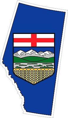 ALBERTA SQUARE Metallic Bumper Sticker Decal . Siz Canada/' Provincial Flag .