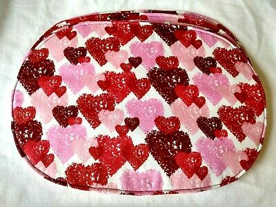 Valentine/'s Day Everyday Pink Red Burgundy Hearts Set of 4 Rectangle Placemats