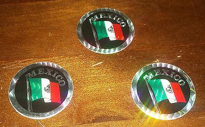 Retro PRISM Mexican FLAG  STICKER   2 1//2 x 2 1//2 VINTAGE