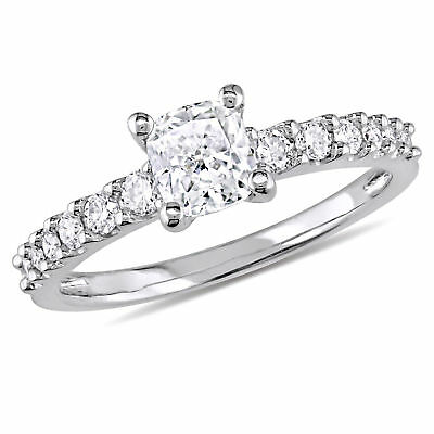 Amour 1 CT TW Cushion Diamond Engagement Ring in 14k White Gold
