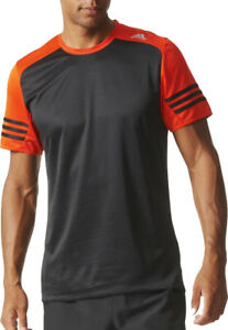 Details about Adidas Response Short Sleeve Mens Running Top Black