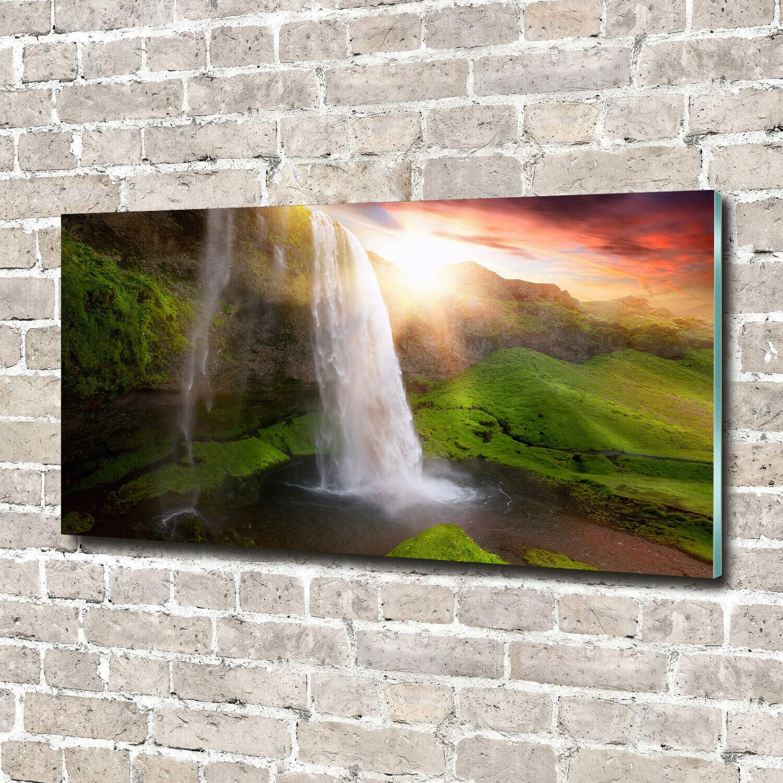 Wandbild aus Plexiglas® Druck auf Acryl 140x70 Landschaften Wasserfall