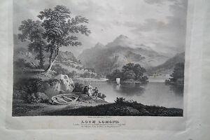 Loch-Lomond-in-Schottland-Lithographie-F-Nicholson-1826