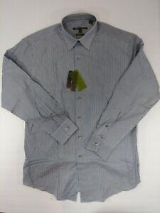 NEW-BCBG-Attitude-Modern-Fit-Striped-L-S-Button-Shirt-Men-039-s-Sz-Medium-15-5-32-30
