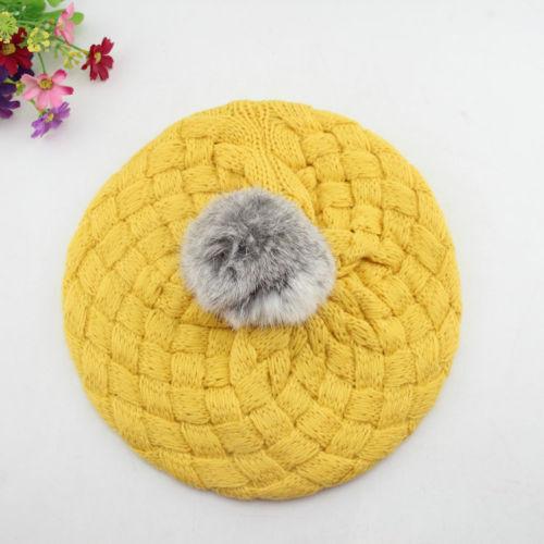 Baby Mädchen Kleinkind Winter Warm Gestrickte Häkeln Beanie Hut Beret Cap Nette