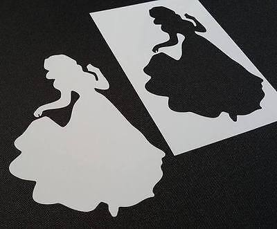 Princess Snow White Style Reusable Stencil Wall Party Cake Face Painting Icing