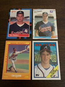 1988-TOPPS-DONRUSS-FLEER-SCORE-TOM-GLAVINE-LOT-644-539-638-779-BRAVES-NM-MT