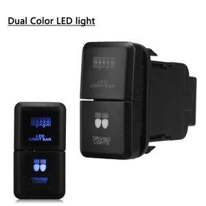 Plastic-Light-Switch-For-Toyota-Land-Cruiser-Hilux-Prado-120-Dual-Color-12v