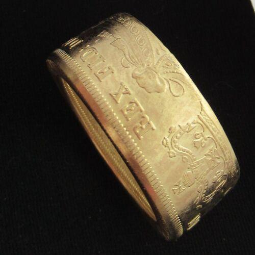George IV 2 Libra Moneda Artesanal Anillo Britanniarum Rex FID Def