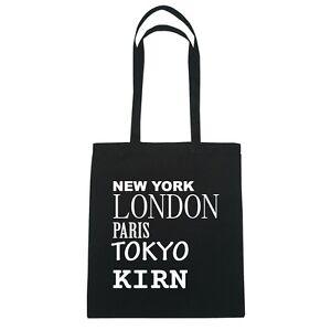 New York, London, Paris, Tokyo KIRN - Jutebeutel Tasche - Farbe: schwarz