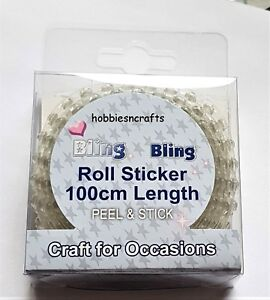 CRAFT-FOR-OCCASIONS-PACK-OF-3MM-PEEL-amp-STICK-BLING-100-CM-x-2-ROWS-IRIDESCENT