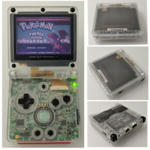 Clear-White-Game-Boy-Advance-SP-Console-AGS-001-Front-light-LCD-GBA-SP-Console