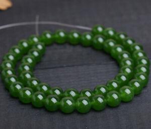 diy-8-mm-natural-emerald-gemstone-round-loose-beads-15-034-strand-AAA