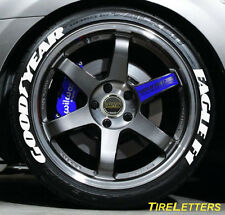 """TIRE LETTERS - 1"""" TALL - LOW PROFILE - goodyear eagle f1 - (SWOOSH DESIGN) SALE"""
