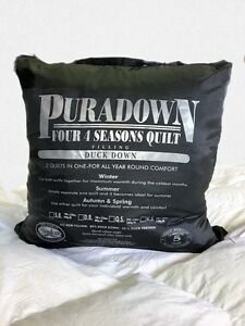 Puradown-Four-Seasons-Clip-Together-80-White-Duck-Down-Doona-Duvet-Quilt