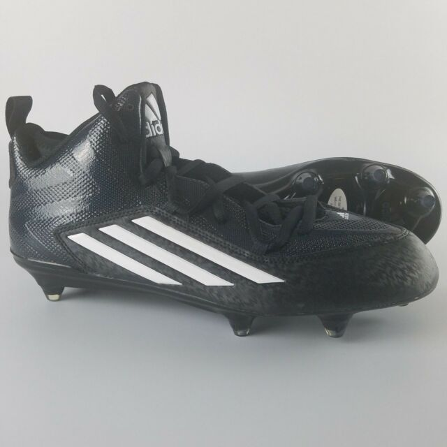 new concept f0324 bbaae Adidas ASP Crazyquick 2.0 Mid D Football Cleats Men s Size 11.5 Black White  NEW