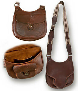 Image Is Loading Woodlands Beavertail Possibles Bag Buffalo Leather Shooters Black