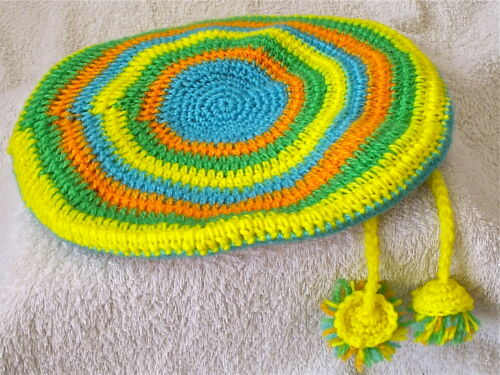 """HAND MADE = CROCHET COLOUR TAM 11/"""" WITH BOBBLES = ONE SIZE = HAT 0040"""