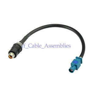Antenna-adapter-RAKU-RAST-II-to-FAKRA-Z-male-cable-20cm-For-AUDI-SEAT-SKODA-VW