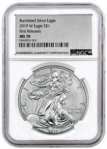2019-W-Burnished-American-Silver-Eagle-NGC-MS70-FR-Silver-Foil-Label-SKU55868