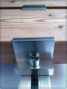 8x Endklemmen Für Module Ab 35-50mm Pv Photovoltaik Montage Endklemme Neu Elegant And Sturdy Package Heimwerker
