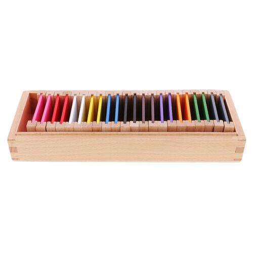 Montessori Sensorial Material Wood Color Box Medium Kids School Teaching Aid