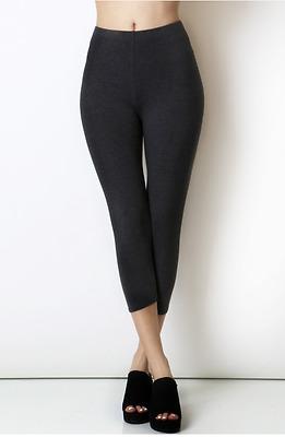 Womens Basic Capri Leggings 3/4 Skin Tight Classic Casual Cotton Span OP-1752