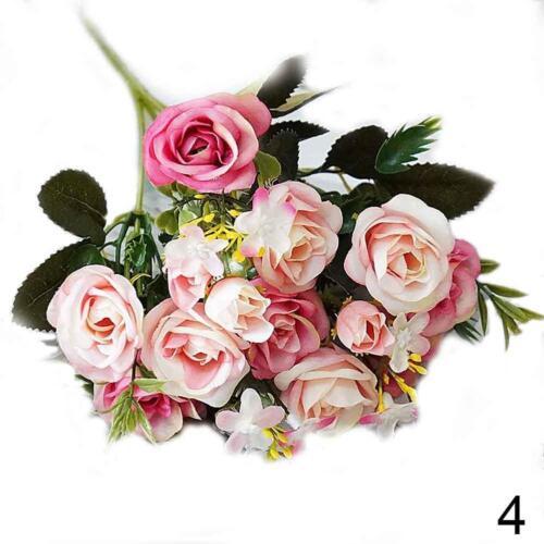 Blumenstrauß r künstlichen Blumen r-Knospenseidenrosen-Simulationsblu-ko