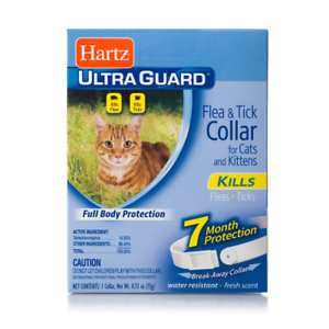 Hartz-Ultra-Guard-Flea-amp-Tick-Cat-Collars-7-Month-for-Cats-and-Kittens-White