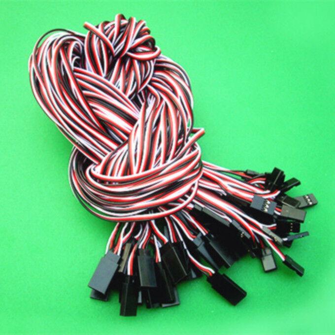 100 un. 100 cm 1 m cable de Cable de Extensión Servo plomo para futuba