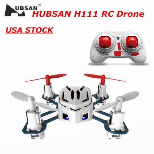 Hubsan Nano Q4 H111 Quadricopter 2.4Ghz 4CH 6 Axis DEL mini Drone UFO RTF Etats-Unis Blanc