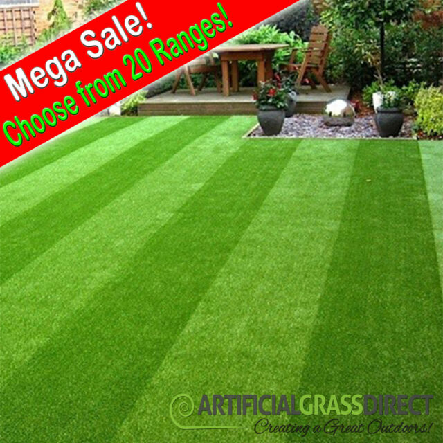 2m x 1m Artificial Grass   Quality Garden Lawn  Astro Realistic   Artifical Turf