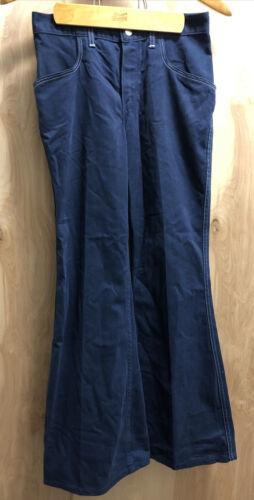 Vintage 1970's Wrangler Bell Bottoms Dark Blue Siz