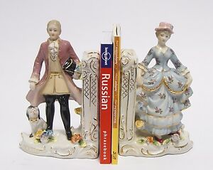PORCELAIN-BOOK-ENDS