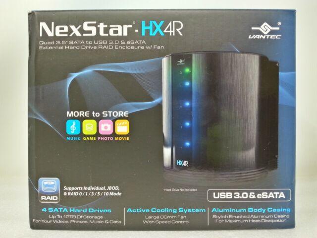 Vantec NST-640SU3-BK 4 Bays 3.5-Inch SATA to USB 3.0 /& eSATA External Enclosure