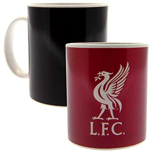 Liverpool FC Tasse Becher schwarz Magic Mug wird heiß befüllt rot mit Liverbird