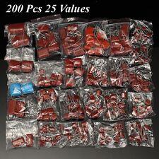 200Pcs 630V 0.001uf~2.2uf CBB Metal Film Capacitors Assortment Kit 25 values