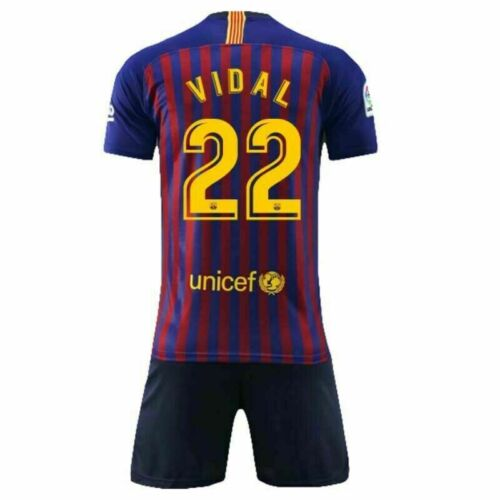 Kids Soccer Football Kits Boys Jersey Outfit Kits Suits Short+T-shirt for 2-13 Y