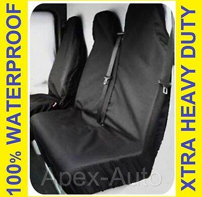 Black Van Seat Covers protectors 100/% WATERPROOF VAUXHALL VIVARO SPORTIVE