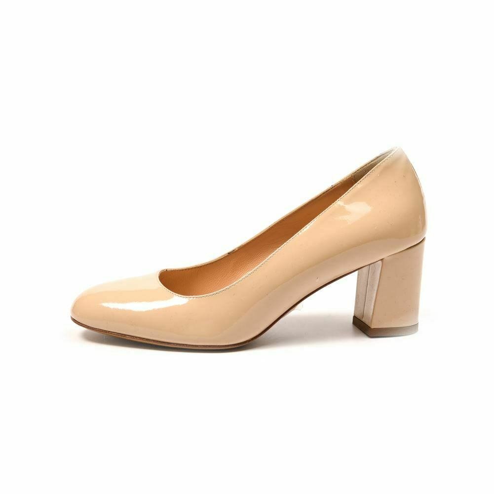 Elia B chaussures Beige Cuir Verni Taille 37  UK 4 Ps 100
