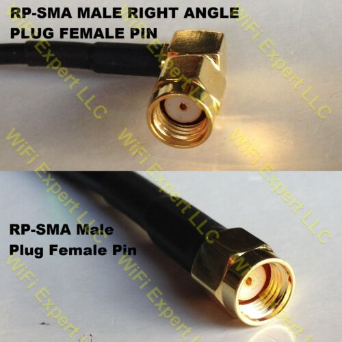 USA-CA RG188  RP-SMA MALE ANGLE to RP-SMA MALE Coaxial RF Pigtail Cable
