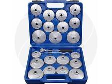 23pcs Car Universal Aluminum Oil Filter Cap Set with Ratchet Wrench Storage Case