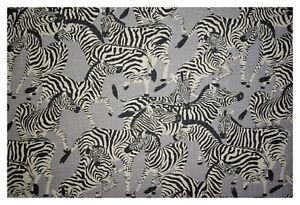 Zebra Print Washed Linen Safari Animal Print Soft Upholstery Drapery Fabric 55 W Ebay