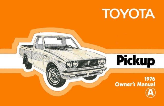 Bishko Oem Repair Maintenance Owner S Manual Toyota Pickup 1976 For Sale Online Ebay
