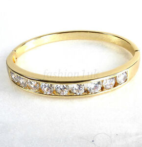 Clasico-Brazalete-Abierto-14K-Oro-Amarillo-Chapado-Imitacion-Diamante-60mm