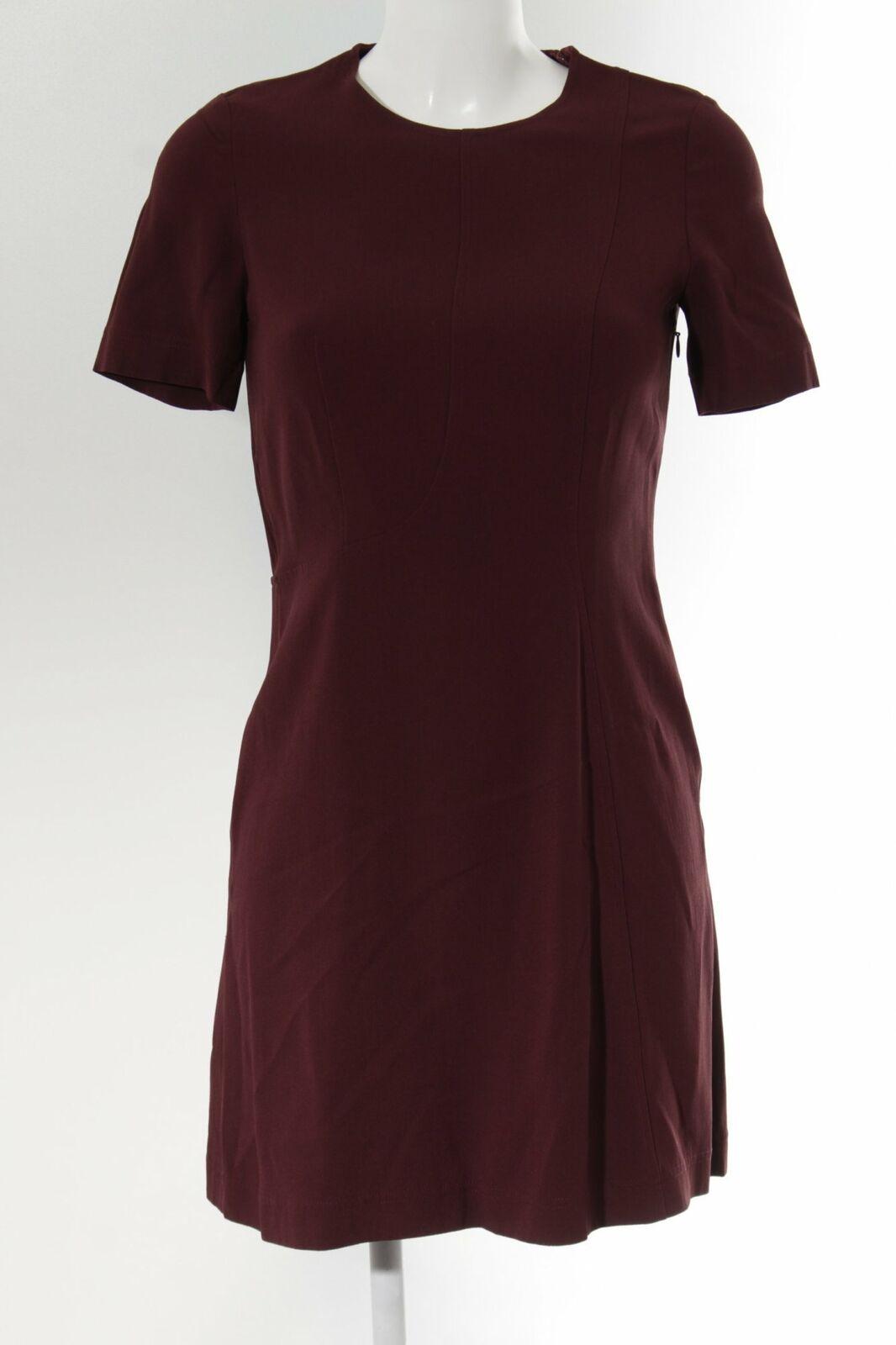 CéDRIC CHARLIER Kurzarmkleid bordeauxrot Elegant Damen Gr. DE 38 Kleid Dress