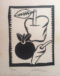 Serigraph by Alfredo González Rostgaard  ̈Naturaleza Viva ̈, original signed