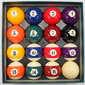 Belgian-Aramith-2-1-4-034-PREMIER-Pool-Balls-Complete-Set-FREE-US-SHIPPING